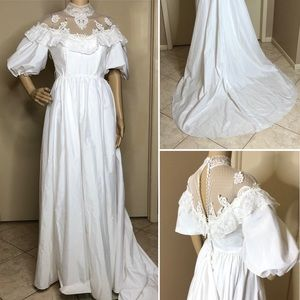 Vintage Southern Belle Wedding Gown White Dress